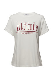 Printed message t-shirt - WHITE