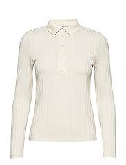 Ribbed cotton t-shirt - LIGHT BEIGE
