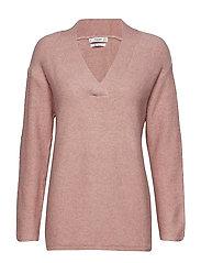 V-neckline sweater - PINK