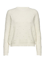 Textured knit sweater - LIGHT BEIGE