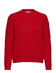 Textured knit sweater - RED