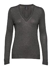 Wool-blend knit sweater - GREY