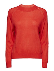 Fine-knit sweater - RED