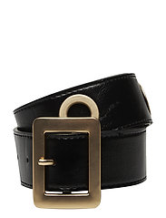 Eyelets detail belt - BLACK