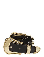 Double buckle belt - BLACK