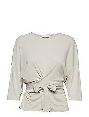 Knot detail t-shirt - WHITE