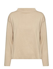 Funnel neck sweater - MEDIUM BROWN