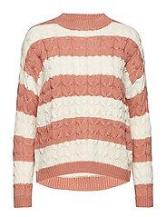 Knit striped sweater - PINK