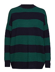 Knit striped sweater - GREEN
