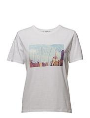 Textured message t-shirt - WHITE