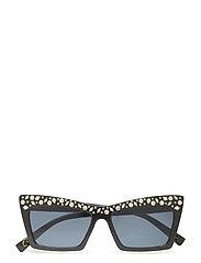 Metal appliqu sunglasses - BLACK