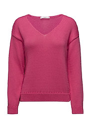 Chunky-knit sweater - BRIGHT PINK
