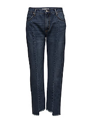 Frayed straight jeans - OPEN BLUE