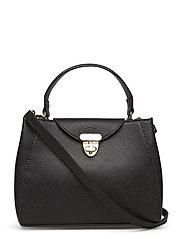 Safiano mini shopper bag - BLACK