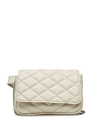 Quilted belt bag - LIGHT BEIGE