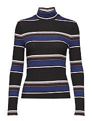 Striped jersey t-shirt - BLACK