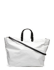 Vinyl shopper bag - WHITE