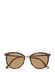 Contrasting sunglasses - DARK BROWN