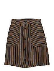 Striped skirt - MEDIUM BROWN