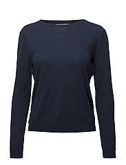 Fine-knit cotton sweater - NAVY