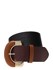 Contrasting buckle belt - BLACK