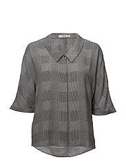 Flowy printed blouse - GREY
