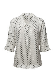 Flowy printed blouse - NATURAL WHITE