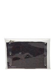 Vinyl cosmetic bag - BLACK