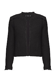 Trim tweed jacket - BLACK
