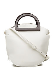 Wooden handle mini bag - WHITE