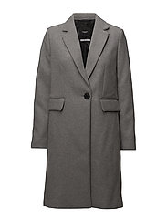 Structured wool coat - GREY