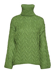 Chunky-knit sweater - GREEN