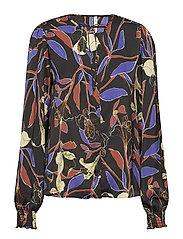 Floral print blouse - MEDIUM PURPLE