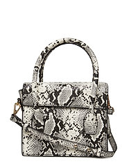 Snakeskin effect bag - NATURAL WHITE