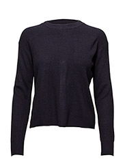 Back vent sweater - NAVY