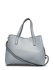 Pebbled tote bag - LT-PASTEL BLUE