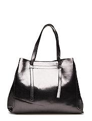 Metallic-effect shopper bag - BLACK