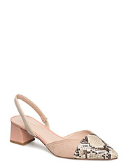 Contrast slingback shoes - LT-PASTEL PINK