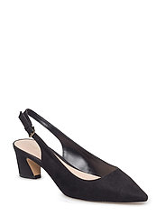 Slingback heel shoes - BLACK