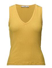 Ribbed knit top - YELLOW