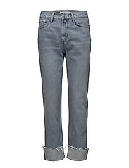 Cuffed hem relaxed jeans - OPEN BLUE