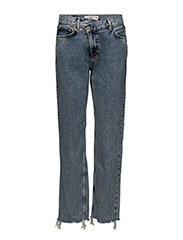 Wrap-waist straight-fit  jeans - OPEN BLUE
