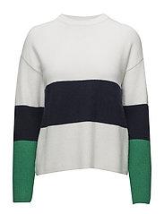 Horizontal-stripe sweater - LIGHT BEIGE