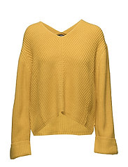 Chunky-knit sweater - YELLOW