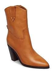 Cowboy leather boots - MEDIUM BROWN