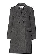Masculine structured coat - DARK GREY