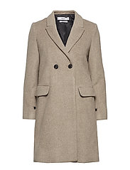 Masculine structured coat - LIGHT BEIGE