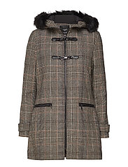 Furry hooded parka - GREY