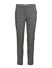 Check suit trousers - GREY