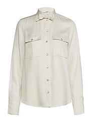 Chest-pocket soft shirt - LIGHT BEIGE